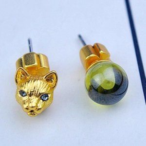 Kate Spade 18K Gold Plated Kitty Earrings